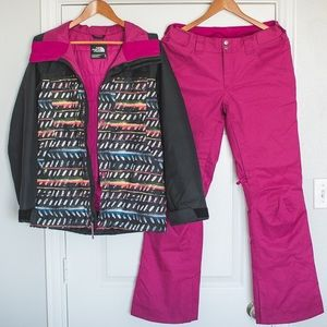The North Face Women's Snowboard Jacket and Pants